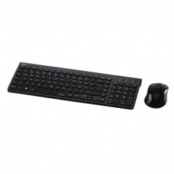 Zestaw bezprzewodowy klawiatura + mysz Hama Trento, czarny