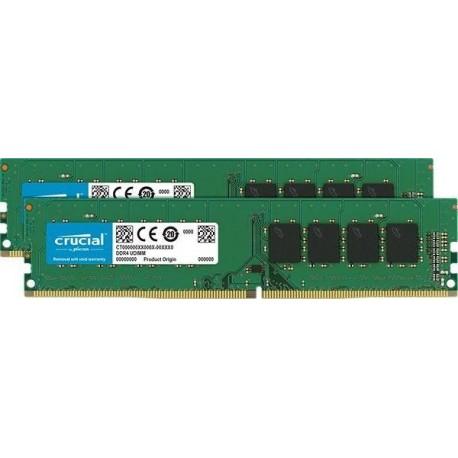 Pamięć DDR4 Crucial 16GB (2x8GB) 2400MHz CL17 SRx8 Unbuffered