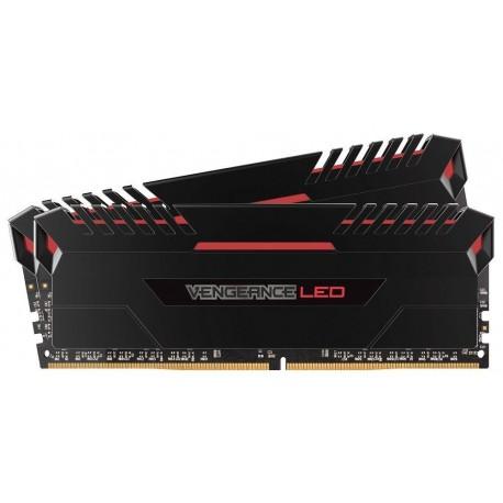 Pamięć DDR4 Corsair Vengeance LED 32GB (2x16GB) 2666MHz CL16-18-18-36 RED