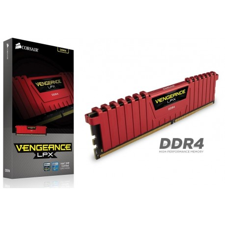 Pamięć DDR4 Corsair Vengeance LPX 8GB 2400MHz XMP 2.0 CL14 1.2V RED