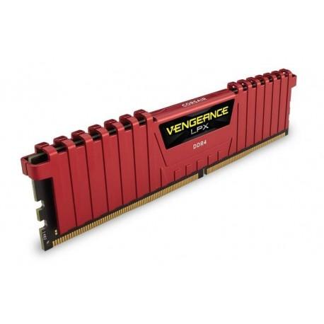 Pamięć DDR4 Corsair Vengeance LPX 8GB (2x4GB) 2400MHz CL16 1,2V czerwony