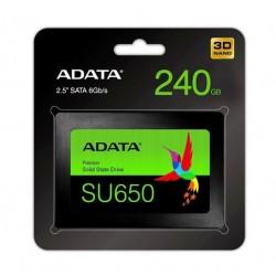 """Dysk SSD ADATA Ultimate SU650 240GB 2,5"""" SATA3 (520/450 MB/s) 7mm, 3D NAND / Black Retail"""
