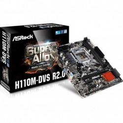 Płyta ASRock H110M-DVS R2.0 /H110/DDR4/SATA3/USB3.0/PCIe3.0/s.1151/mATX