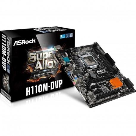 Płyta ASRock H110M-DVP /H110/DDR4/SATA3/USB3.0/PCIe3.0/COM/s.1151/mATX