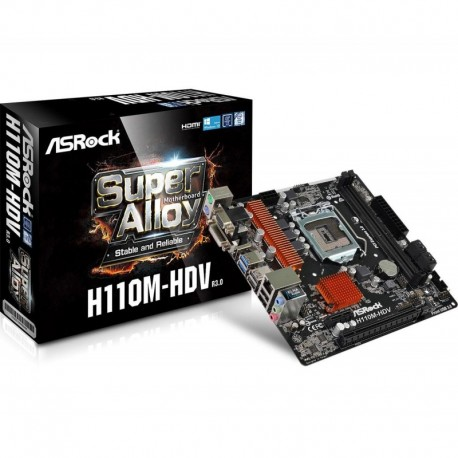 Płyta ASRock H110M-HDV R3.0 /H110/DDR4/SATA3/USB3.1/PCIe3.0/s.1151/mATX