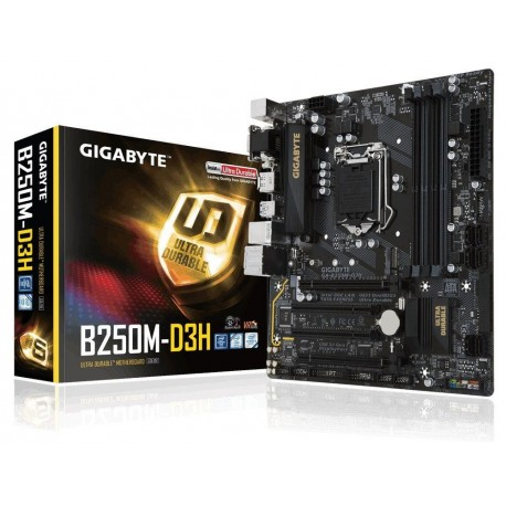 Płyta Gigabyte GA-B250M-D3H /B250/DDR4/SATA3/M.2/USB3.0/PCIe3.0/s.1151/mATX