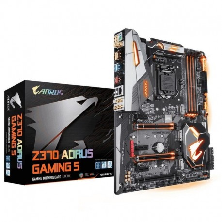 Płyta Gigabyte GA-Z370-AORUS-Gaming 5 /Z370/DDR4/SATA3/M.2/USB3.1/WF/BT/PCIe3.0/s.1151/ATX