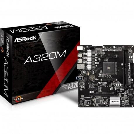Płyta ASRock A320M /AMD A3200/DDR4/SATA3/M.2/USB3.0/PCIe3.0/AM4/mATX