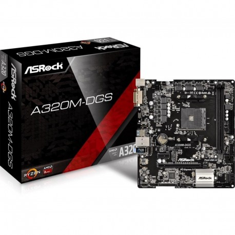 Płyta ASRock A320M-DGS /AMD A3200/DDR4/SATA3/M.2/USB3.0/PCIe3.0/AM4/mATX