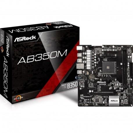 Płyta ASRock AB350M /AMD B350/DDR4/SATA3/M.2/USB3.0/PCIe3.0/AM4/mATX