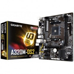 Płyta Gigabyte GA-A320M-DS2 /AMD A320/DDR4/SATA3/USB3.1/PCIe3.0/AM4/mATX