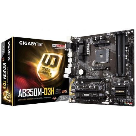 Płyta Gigabyte GA-AB350M-D3H /AMD B350/DDR4/SATA3/M.2/USB3.1/PCIe3.0/AM4/mATX