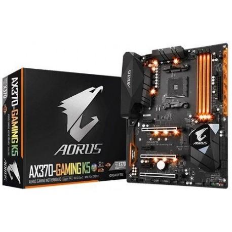 Płyta Gigabyte GA-AX370-GAMING K5 AORUS /AMD X370/DDR4/SATA3/SE/M.2/USB3.1/PCIe3.0/AM4/ATX