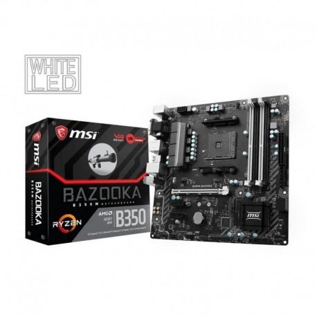 Płyta MSI B350M BAZOOKA /AMD B350/DDR4/SATA3/M.2/USB3.0/PCIe3.0/AM4/mATX