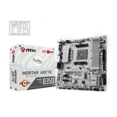 Płyta MSI B350M MORTAR ARCTIC /AMD B350/DDR4/SATA3/M.2/USB3.0/PCIe3.0/AM4/mATX