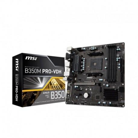 Płyta MSI B350M PRO-VDH /AMD B350/DDR4/SATA3/USB3.0/PCIe3.0/AM4/mATX