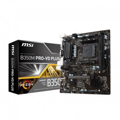 Płyta MSI B350M PRO-VD PLUS /AMD B350/DDR4/SATA3/USB3.1/PCIe3.0/AM4/mATX