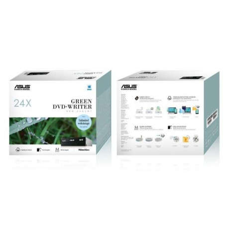 Napęd DVD RW ASUS DRW-24D5MT BLACK SATA BOX Power2Go 8