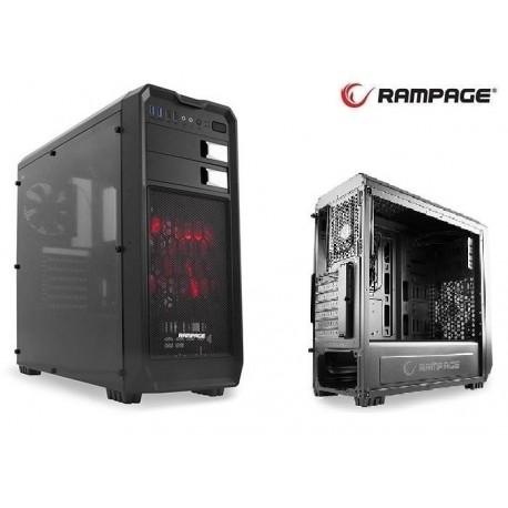 Obudowa RAMPAGE Midi Tower 66 ATX/mATX/mITX 2xUSB 3.0 2xUSB 2.0 Black Gaming Okno