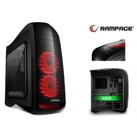 Obudowa Rampage ATTACK  ATX/mATX/mITX 1xUSB 3.0 1xUSB 2.0 Gaming