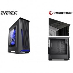 Obudowa RAMPAGE Midi Tower RACER Plus ATX/mATX USB 3.0 2xUSB 2.0 Black Gaming Okno