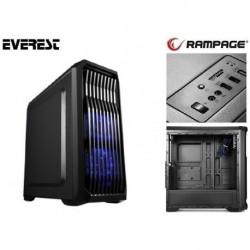 Obudowa RAMPAGE Midi Tower RACER ATX/mATX USB 3.0 2xUSB 2.0 Black Gaming