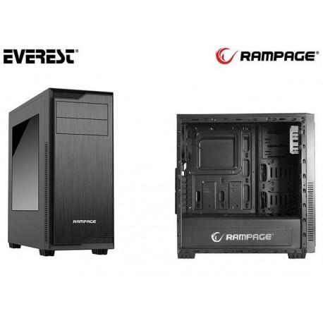 Obudowa RAMPAGE Midi Tower RAZOR ATX/mATX/mITX 2xUSB 3.0 Black Gaming Okno