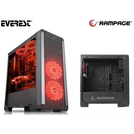 Obudowa RAMPAGE Midi Tower PULSAR V1 ATX/mATX/mITX 2xUSB 3.0 2xUSB 2.0 Black Gaming Okno