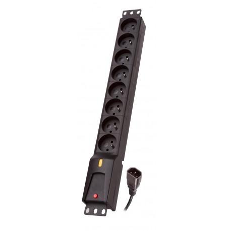 Listwa zasilająca Lestar LZRM  810  BW  G-A K.:CZ  3,0M IEC320