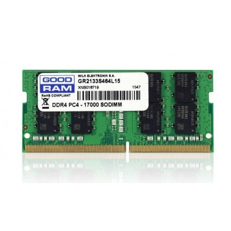 Pamięć DDR4 GOODRAM SODIMM 8GB 2133MHz CL15