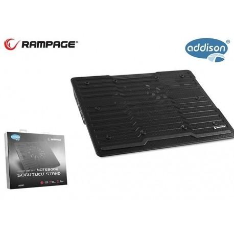 Podstawka chłodząca Rampage AD-RC1 GAMING Black 3xUSB 200mm