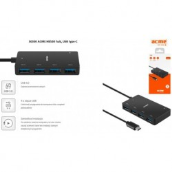 Hub USB ACME HB530, 4 porty USB 3.0, wtyk USB 3.0 type-C