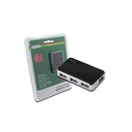 Hub USB 2.0 4-portowy DIGITUS  aktywny czarny