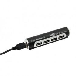 Hub USB 2.0 Esperanza EA115 Aluminium 4 Porty