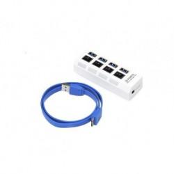 HUB USB Gembird USB 3.0, 4-porty z włącznikami, zasilanie zew.