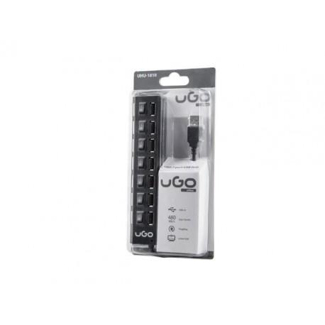 Hub USB 2.0 UGO UHU-1010 7-portowy z włącznikami