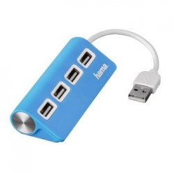 Hub USB 2.0 Hama 1:4 niebieski