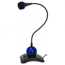 Mikrofon na podstawce Esperanza EH130, regulowane ramię niebieski