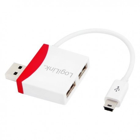 HUB USB LogiLink UA0179 2 porty USB 2.0, kabel mini USB