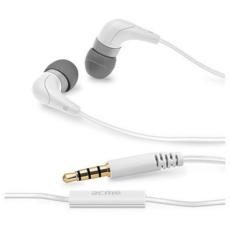 Słuchawki z mikrofonem ACME HE15W Groovy białe