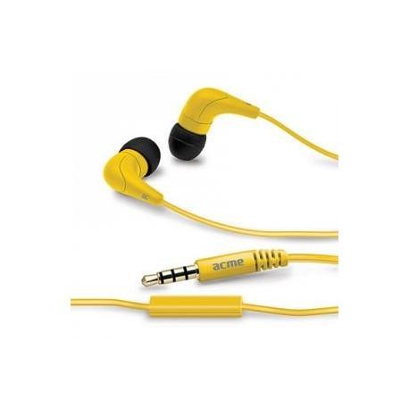 Słuchawki z mikrofonem ACME HE15Y Groovy żółte