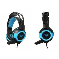 Słuchawki z mikrofonem ACME Aula Shax Gaming czarno-niebieskie