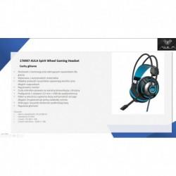 Słuchawki z mikrofonem ACME Aula Spirit Wheel Gaming czarno-niebieskie