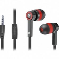 Słuchawki z mikrofonem DEFENDER PULSE 420 douszne 4-pin czarno-czerwone