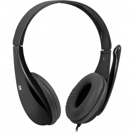 Słuchawki z mikrofonem DEFENDER AURA 111 przejściówka 4-pin czarne