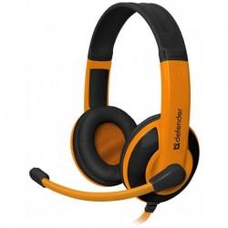 Słuchawki z mikrofonem DEFENDER WARHEAD G-120 Gaming pomarańczowo-czarne + GRA