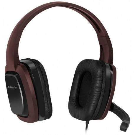 Słuchawki z mikrofonem DEFENDER WARHEAD G-250 Gaming brązowo-czarne