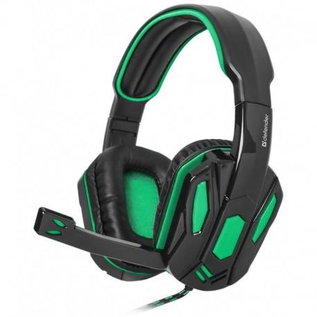 Słuchawki z mikrofonem DEFENDER WARHEAD G-275 Gaming zielono-czarne