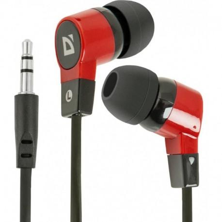 Słuchawki DEFENDER BASIC 619 douszne czarno-czerwone