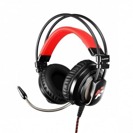 Słuchawki z mikrofonem FlashFire Signal SW 100 Gaming czarno-czerwone